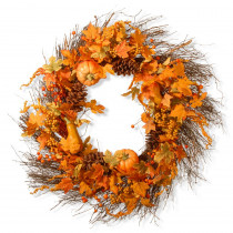 National Tree Company 28 in. Pumpkin Wreath