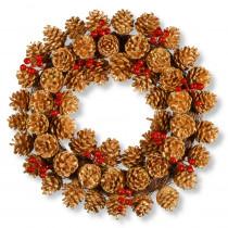National Tree Company 20 in. Glitter Cone Wreath