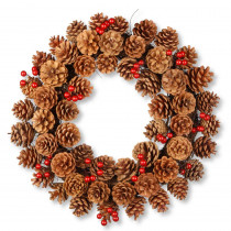 National Tree Company 20 in. Cones and Berry Wreath