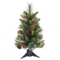 National Tree Company 2 ft. Fiber Optic Crestwood Spruce Tree
