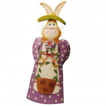 National Tree Company 26 in. Garden Accents Metal Rabbit Decoration