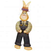 National Tree Company 28 in. Garden Accents Metal Rabbit Decoration