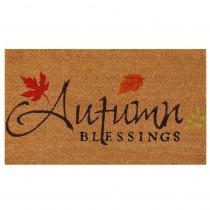 Home & More Autumn Blessings 17 in. x 29 in. Coir Door Mat
