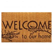 Home & More Welcome 17 in. x 29 in. Coir Door Mat