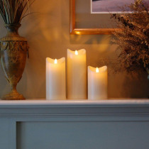 LumaCandle 5 in. H Amber LED Action Resin Candle