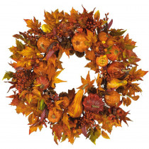 Nearly Natural 28 in. Harvest Wreath