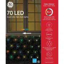 Color Choice Dual Color (Warm White/Multi) LED 70-Light 5.5 mm Net Set