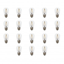 Newhouse Lighting 11W Equivalent 2400K Warm White S14 LED Replacement String Light Bulbs Standard Base (18-Pack)