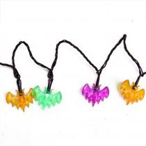 4.75 in. LED B/O Multi-Color Bat Halloween Lights (10-Set)