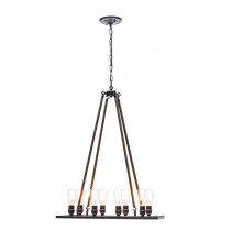 Globe Electric Vintage 8-Light Oil Rubbed Bronze Chandelier with Rope