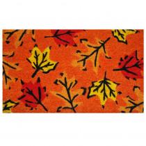 Home & More Fall Leaves 17 in. x 29 in. Coir Door Mat