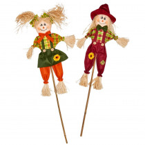 36 in. Scarecrow on Stick (Set of 2)