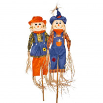 80 in. Scarecrow on Pole (Set of 2)