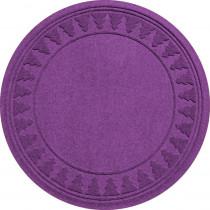 Aqua Shield Purple 35 in. Round Pine Trees Under the Tree Mat