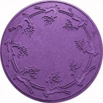 Aqua Shield Purple 35 in. Round Reindeer Run Under the Tree Mat