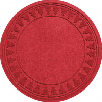 Aqua Shield Red 35 in. Round Pine Trees Under the Tree Mat