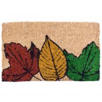 Entryways Fallen Leaves 18 in. x 30 in. Coir Door Mat