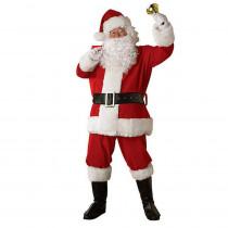 Rubie's Costumes Regal Premiere Plush Santa Suit Costume for Adult