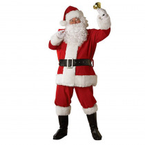 Rubie's Costumes X-Large Regal Regency Plush Santa Suit Costume for Adult