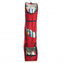 Santa's Bags Red Hanging Wrapping Paper Storage