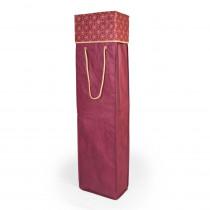 Santa's Bags Red Snowflake Pattern Wrapping Paper Storage Box