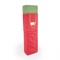 Santa's Bags Red and Green Polka Dot Wrapping Paper Storage Box