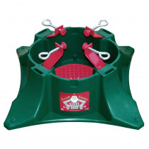 Santa's Solution Steel-Arm Plastic Tree Stand with Turn Straight Centering System for Trees Up to 9 ft.