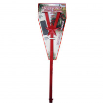 Santa's No Swing 17 in. Red Steel Wreath Hanger