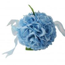 4.7 in. Blue Rose Flower Ball Wedding Decoration