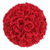 9.8 in. Wine Red Flower Ball Wedding Decoration