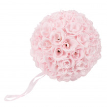 9.8 in. Pink Flower Ball Wedding Decoration