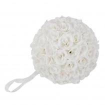 9.8 in. Yellow Flower Ball Wedding Decoration