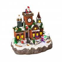 9.45 in. H Lighted Holiday Village