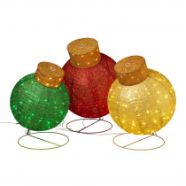 36 in. H Assorted Giant Outdoor Ornaments (Set of 3)
