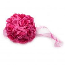 1.5 in. Flower Balls Dark Pink Wedding Decorations (Flower Balls)