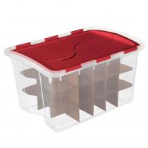 Sterilite Clear Ornament Storage Box (45-Ornaments)