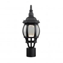 Design House Canterbury II 13.2-Watt 1-Light Outdoor Black Integrated LED Post Light