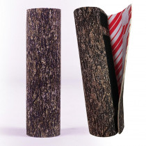 The Christmas Tree Hugger 8.5 in. Christmas Tree Hugger Brown Bark Christmas Tree Skirt Base Pole Wrap