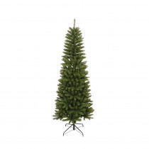 6.5 ft. Unlit Slim Artificial Christmas Tree with 762 Tips