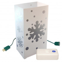 Electric Luminaria Kit with Snowflake and LumaBases (10-Count)