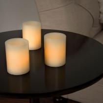 Lavish Home 2.5 in. H Vanilla LED Votive Flameless Wax Candle Set (8-Piece)