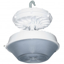 Radiance 169-Watt White Integrated LED Indoor High Bay with Drop Lens
