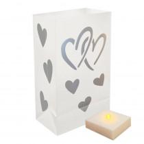 LumaLite Luminaria Kit in Hearts (6-Count)