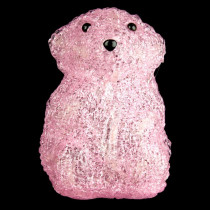 XEPA 6 in. Decorative Pink Baby Bear Standing LED Light